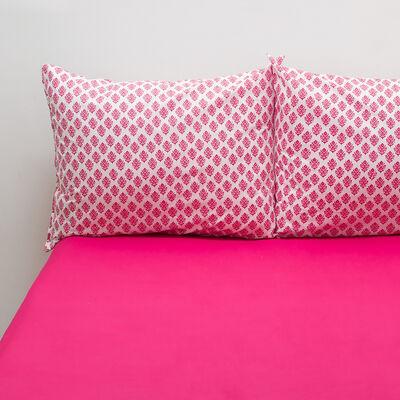 Sábana 144 Hilos India Pink 2 Plazas