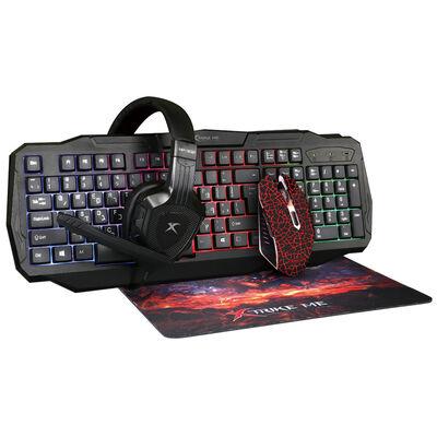 Combo Gamer Xtrike-Me 4 en 1 CM400 Teclado + Mouse + Mousepad + Audífonos