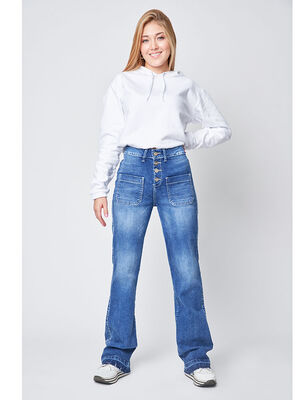 Jeans Recto Mujer Santissima Husy
