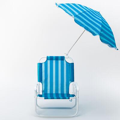 Silla de Playa Niño con Quitasol Rayas