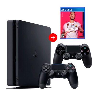 Consola PS4 Slim 500GB + 2 controles + Juego FIFA 2020