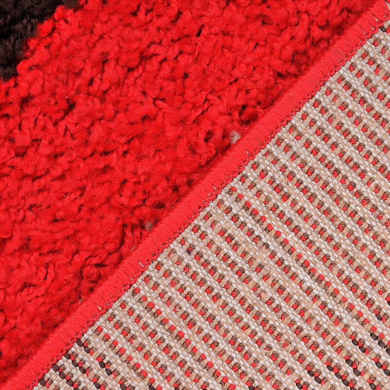 Alfombra Shaggy 1.8k Studio 150x200 Simetry Red