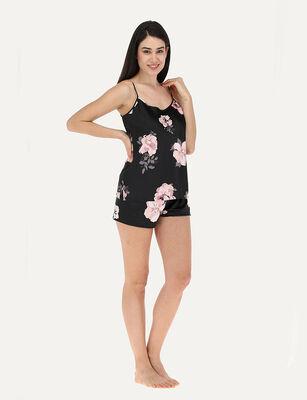 Pijama sin Mangas Mujer Flores