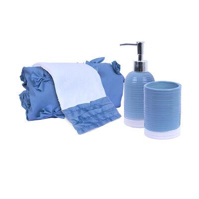 Set Cortina 4 Piezas Mashini Azul