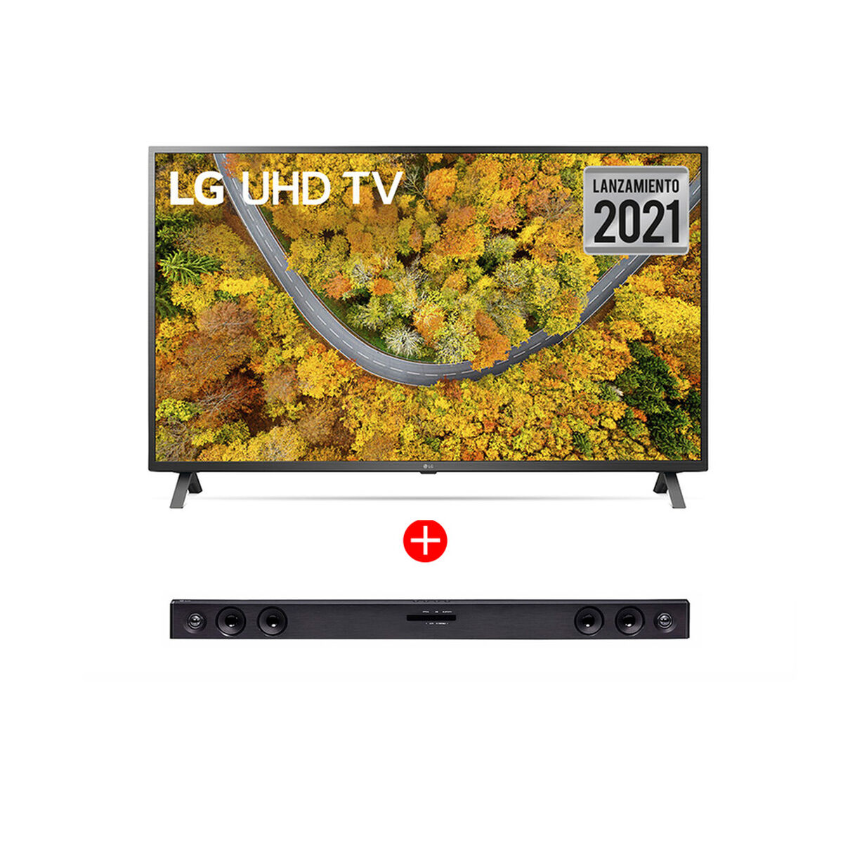 "Combo LED 55"" LG 55UP7500PSF Smart TV 4K UHD 2021  + Soundbar SK1D"