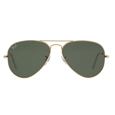 Lentes Ray Ban Aviator Gold Green