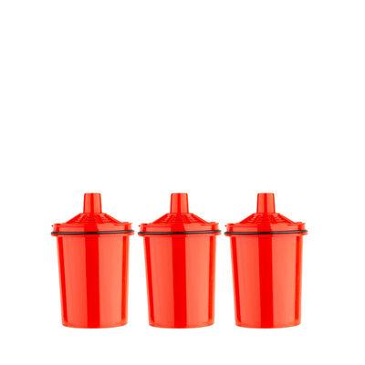 Pack 3 Filtros de Jarro Purificador Agua Dvigi Rojo