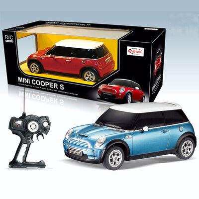 Auto R/C Rastar Mini Cooper S Azul 1:14