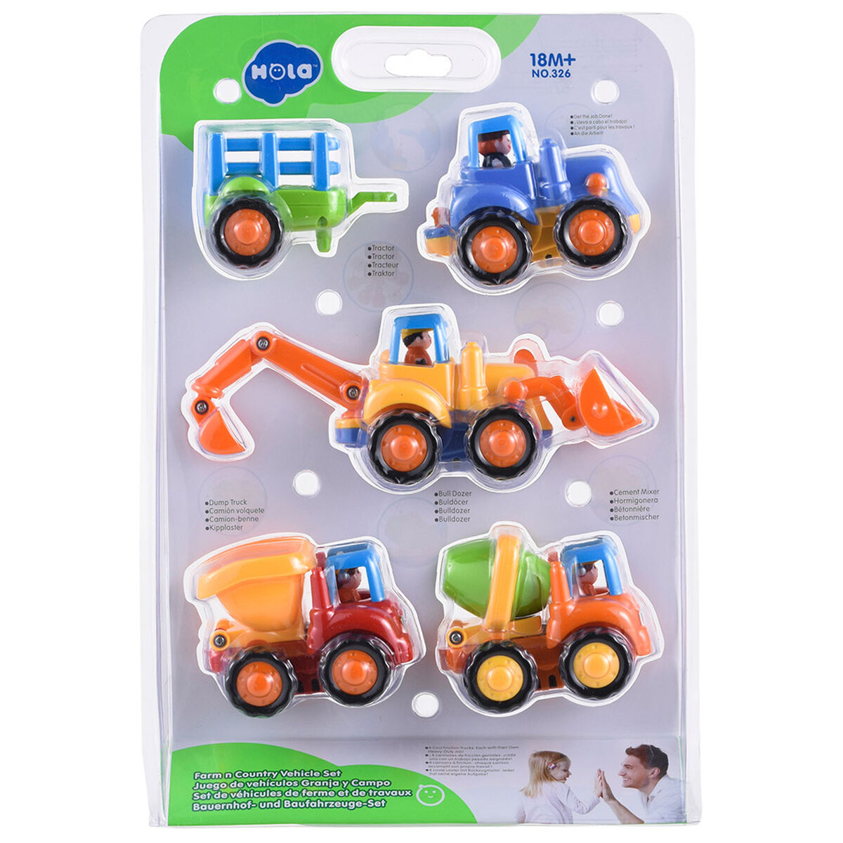 Set 4 Vehículos Baby Way BW Jp19