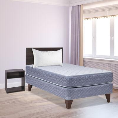 Cama Europea Celta 1,5 Plazas New Atlantis + Set Madera Castilla + Almohada Celta Imperial Soft 50 x 70 cm