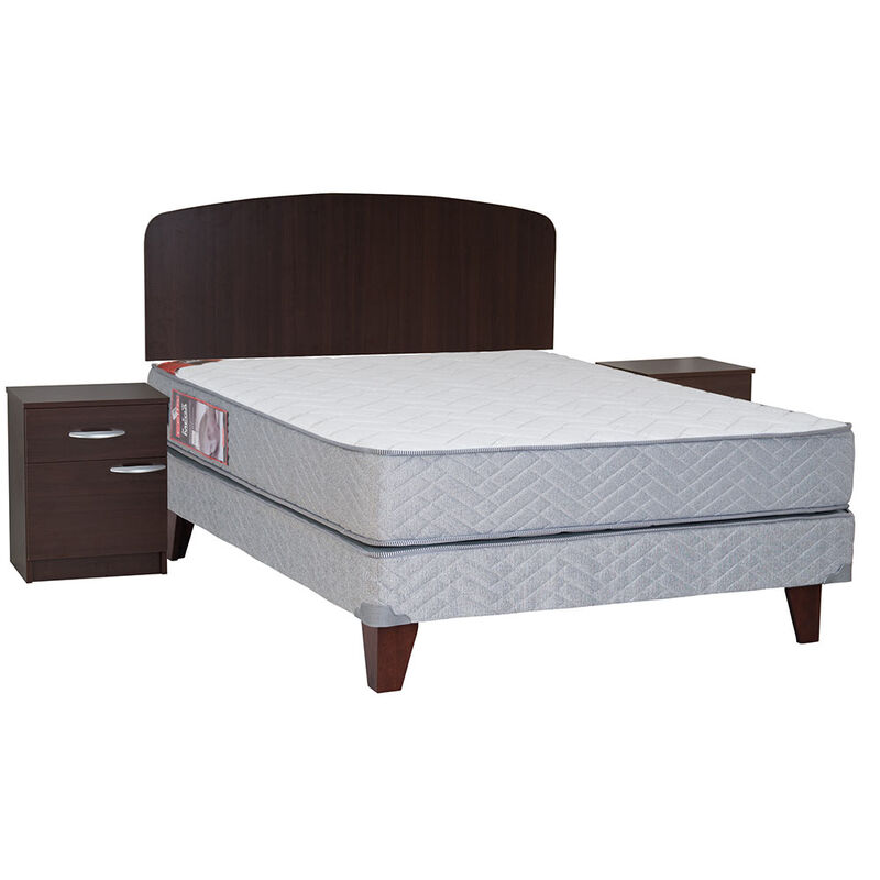 Cama Europea 2 Plazas New Mega + Set Maderas Cordoba