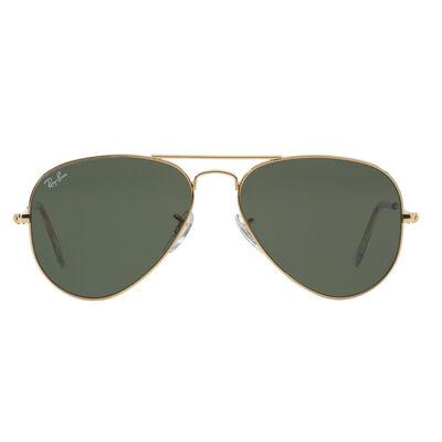 Lentes Ray Ban Aviator Gold Green