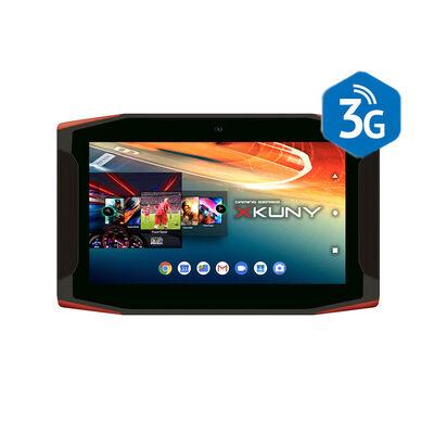 "Tablet Gamer Mlab 3G Quad Core 2GB 16GB 7"" Negro Rojo"