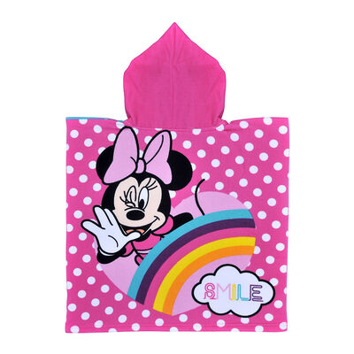 Toalla de Playa Capucha Disney-Minnie Rainbow 60X120 Cm