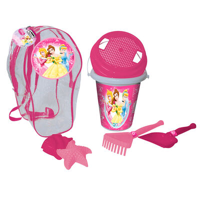 Mochila Playa Balde C/Colad/ 2Pa?As/Moldes Ch Princesas Disney