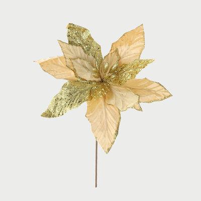 Flor Decorativa Dorado 55 Cm