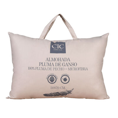 Almohada CIC 100% Pluma de Ganso + Microfibra 50 x 70 cm