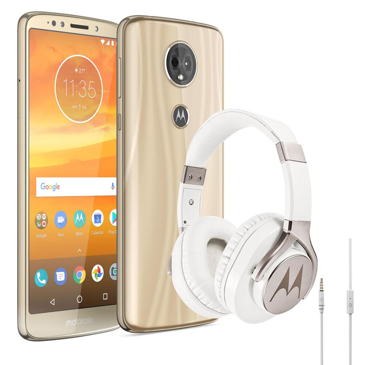 """Celular Motorola E5 Plus 5.9""""Dorado WOM  + Audífonos"""