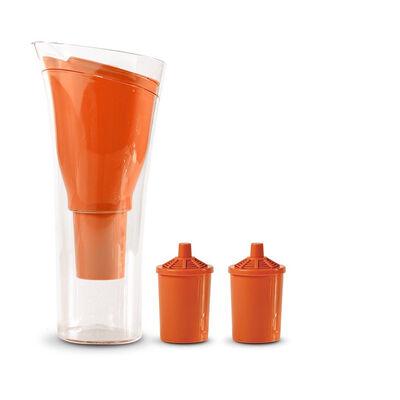 Jarro Purificador de Agua + 2 Repuestos de Filtro Dvigi Naranja