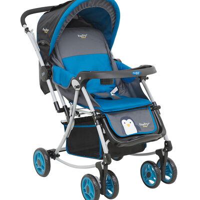 Coche Cuna Balancín Baby Way Azul Bw-305B17
