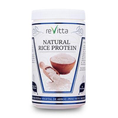 Proteína Vegana De Arroz Natural Rice Protein Revitta 360 Grs. 30 Servicios