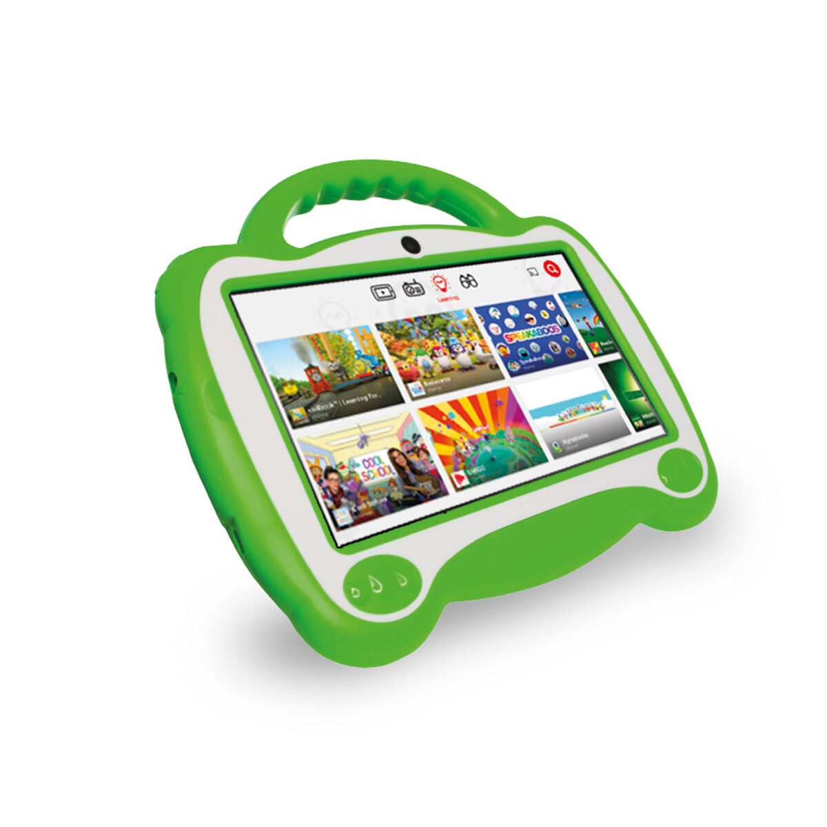 "Tablet Microlab KID Quad Core 1GB 16GB 7"" Verde +Aud"