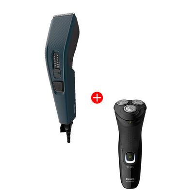 Combo Philips Cortapelo HC3505/15 + Afeitadora S1223/41