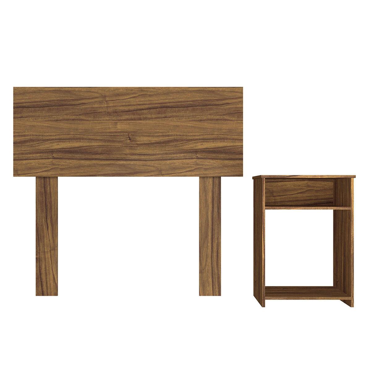 Combo Box Americano CIC 1,5 Plazas Excellence + Set Maderas Casanova Nogal + Almohada Celta Imperial Soft