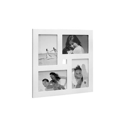 Portaretrato VGO Madera Collage 10x15 cm x4 F Blanco