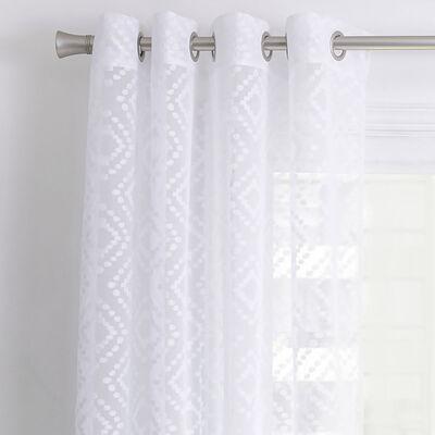 Cortina de Velo Fabrics Fabrics Devore 140 x 220 cm Blanco