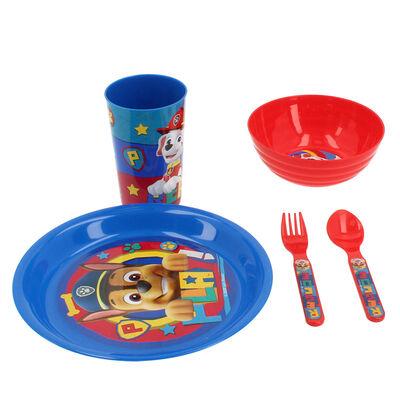Set 5 Piezas Vajilla Infantil Paw Patrol Azul