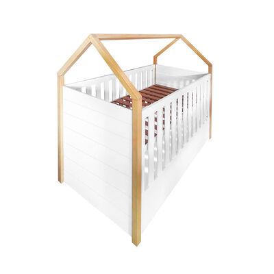 Cuna Montessori Blanca /Natural Bbpro (140X70Cm) 3 Cajas