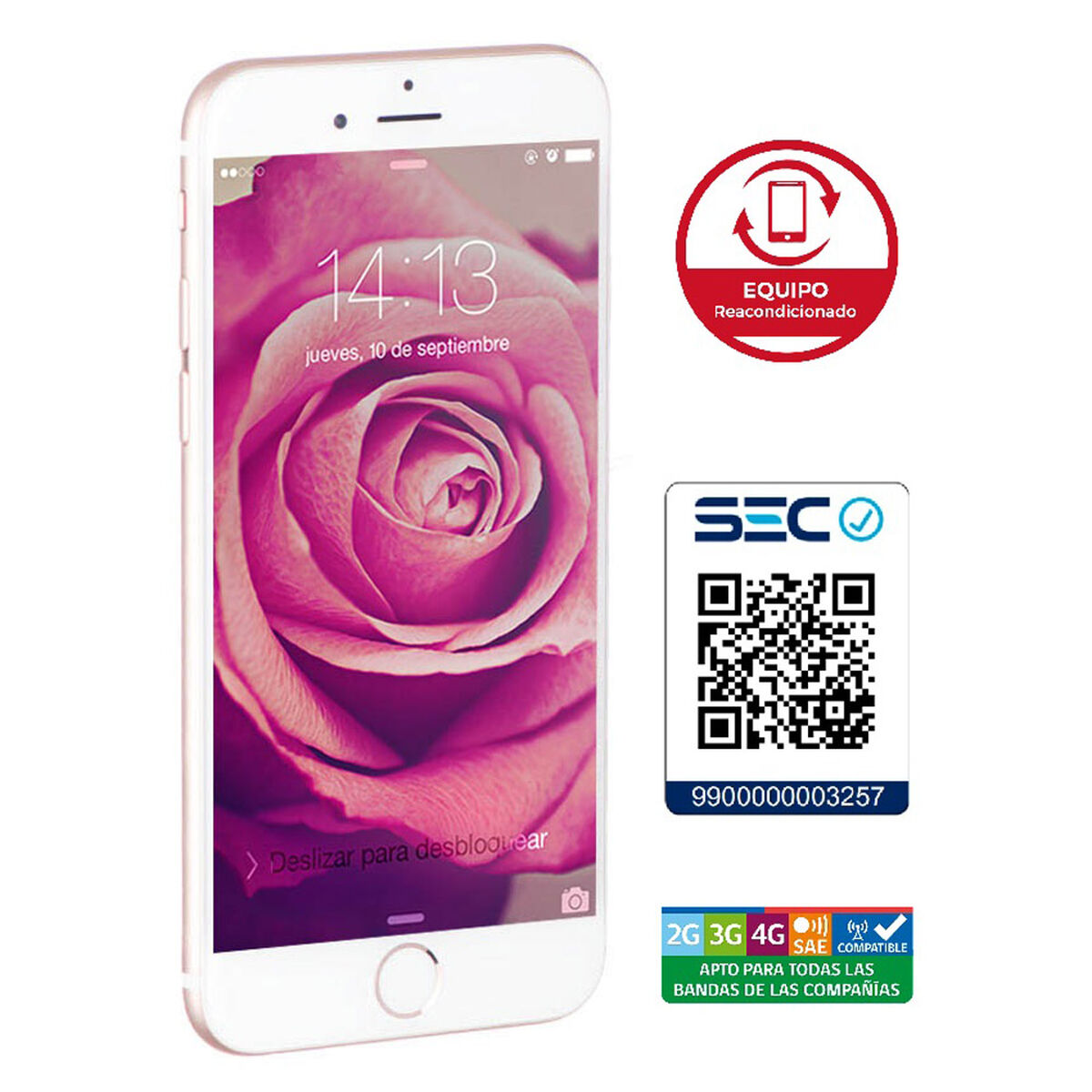 "Celular Apple Iphone 6s 16GB 4.7"" Reacondicionado Rosado Liberado"