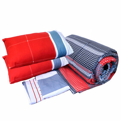 Set Textil 2 Plazas + Sábanas + Almohadas