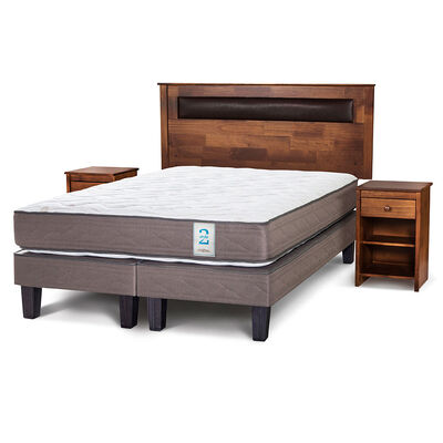 Cama Europea King New Style 2 + Set Maderas Ferrara