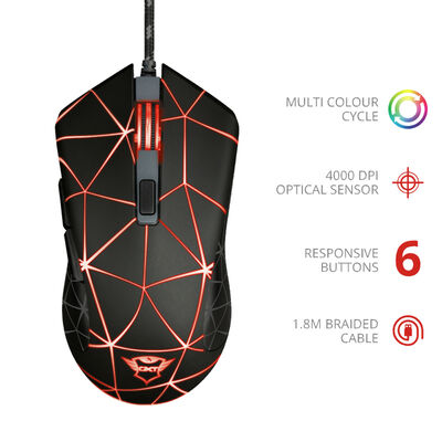 Mouse Gamer GXT133 Locx Trust