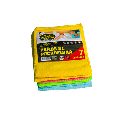 Pack 7 Paños Microfibra Allclean 40 x 30 x 40 cm