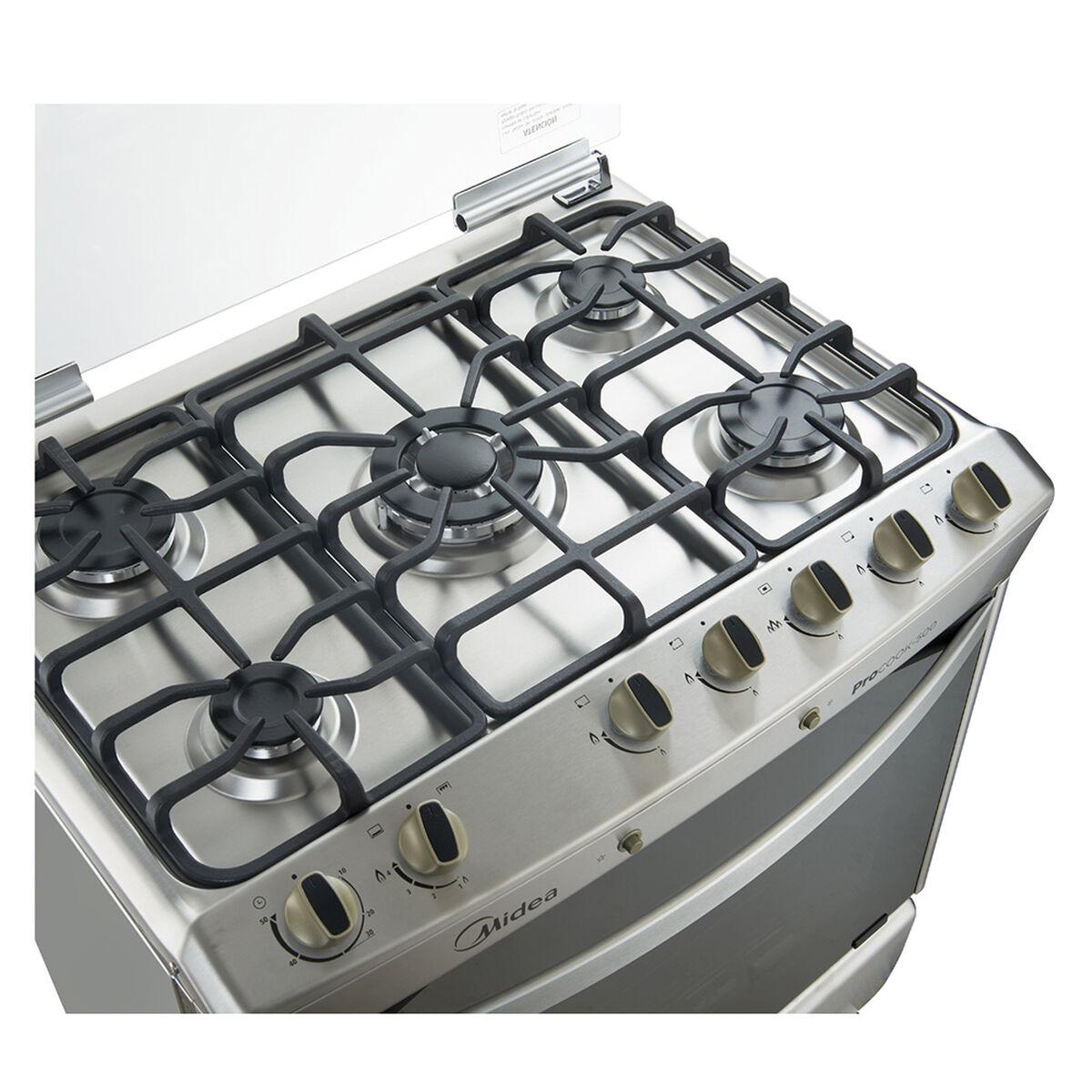 Cocina a Gas Midea MCG-5QI30A 5 Quemadores