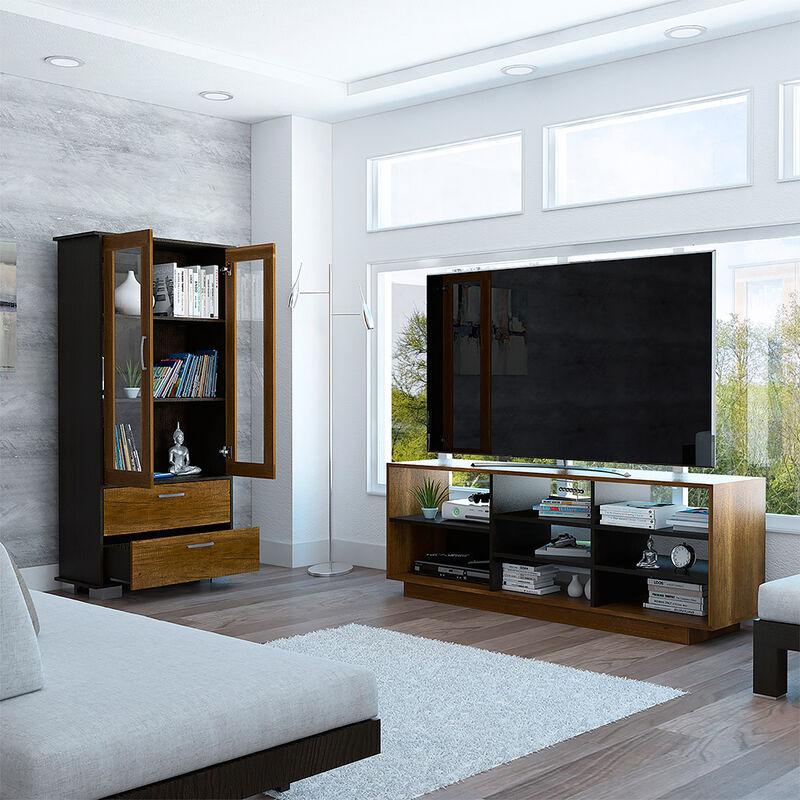 "Rack Tv 58"" + Vitrina Classic Color"