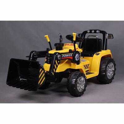 Auto Eléctrico Tractor Amarillo