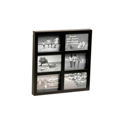 Portaretrato VGO Collage Box 10x15 cm x6 F Negro