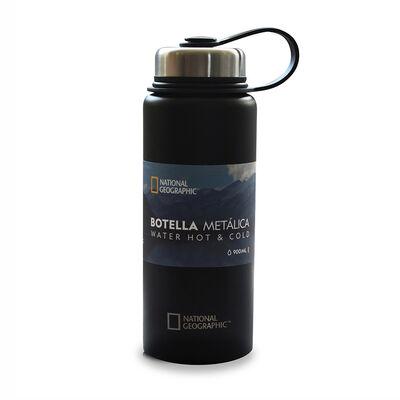 Botella Metálica National Geographic 900ml Negro