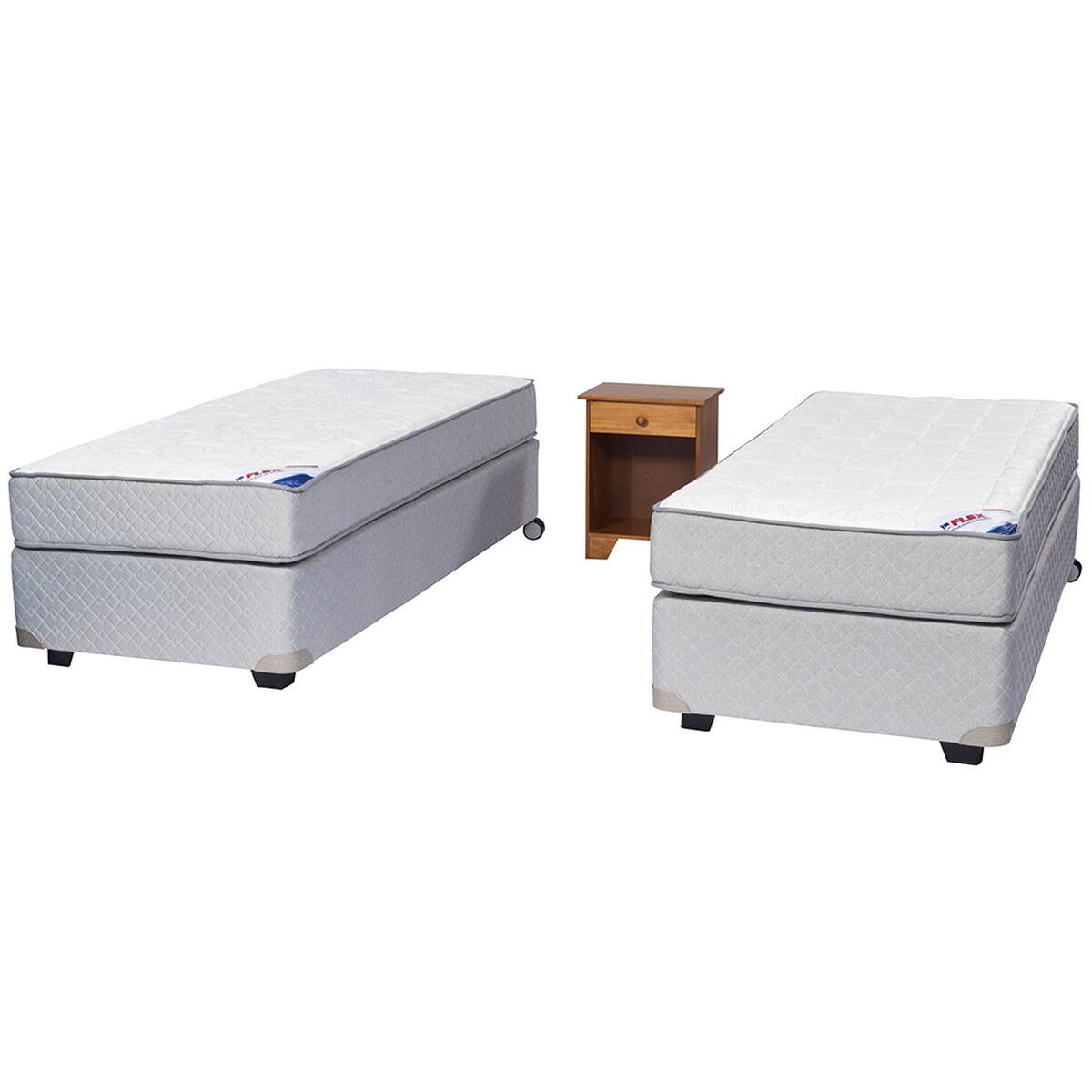 Doble Box Spring Therapedic 1 Pl Flex + Velador Arezo