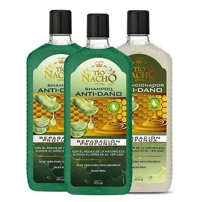Tío Nacho Pack Aloe Vera 2 Shampoo + 1 Acondicionador