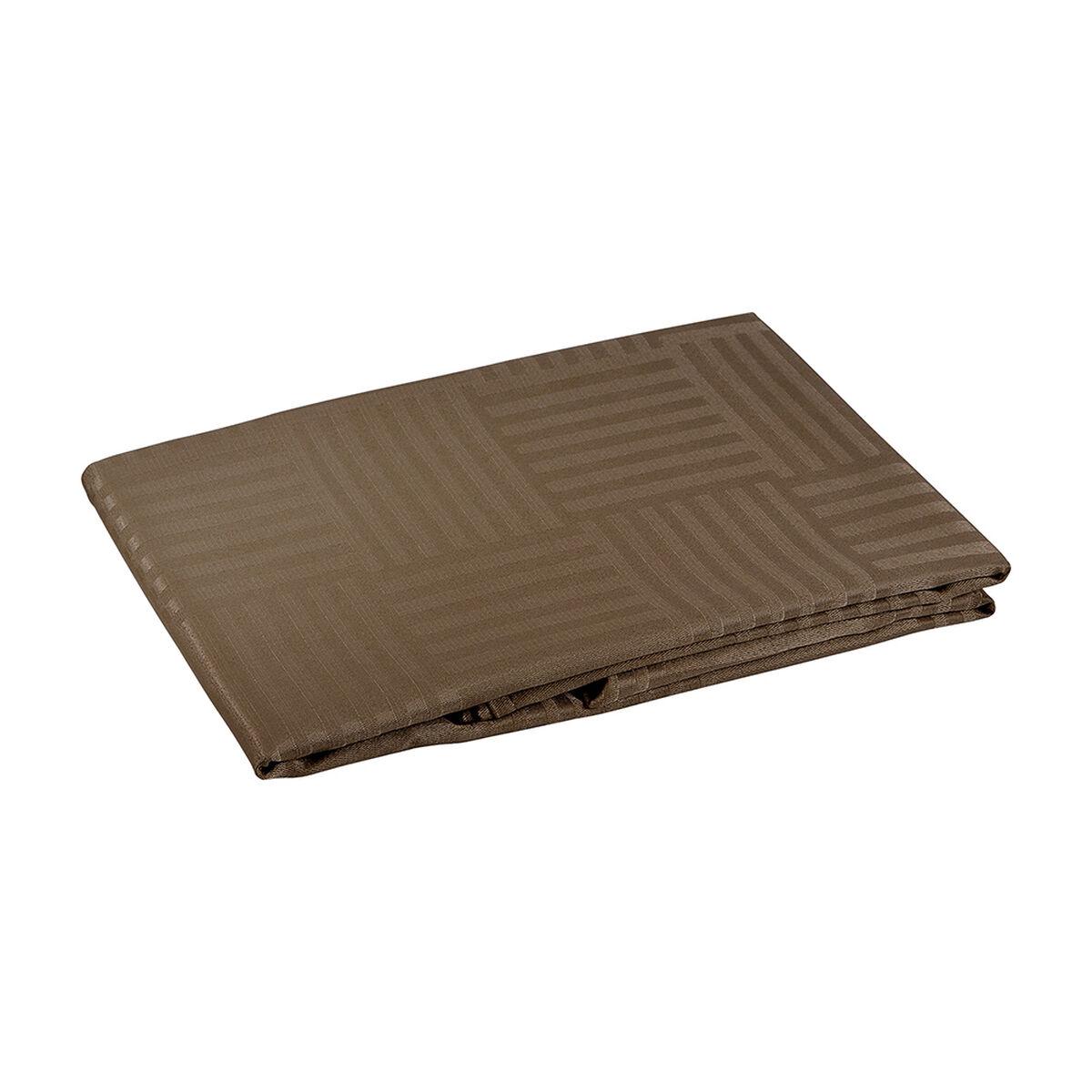 Mantel Grecia Cuadrado Chocolate 180 X 180 Cm