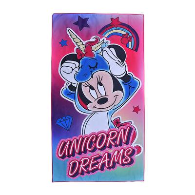 Toalla de Playa Suede Disney-Minnie Unicorn 70X140 Cm