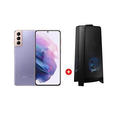 """Combo Celular Samsung Galaxy S21+ 128GB 6,2"""" Phantom Violet Liberado + Minicomponente Sound Tower MX-T50/ZS"""