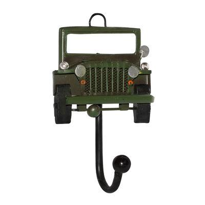 Adorno Metal Vgo Colgador 1 Gancho Jeep Verde