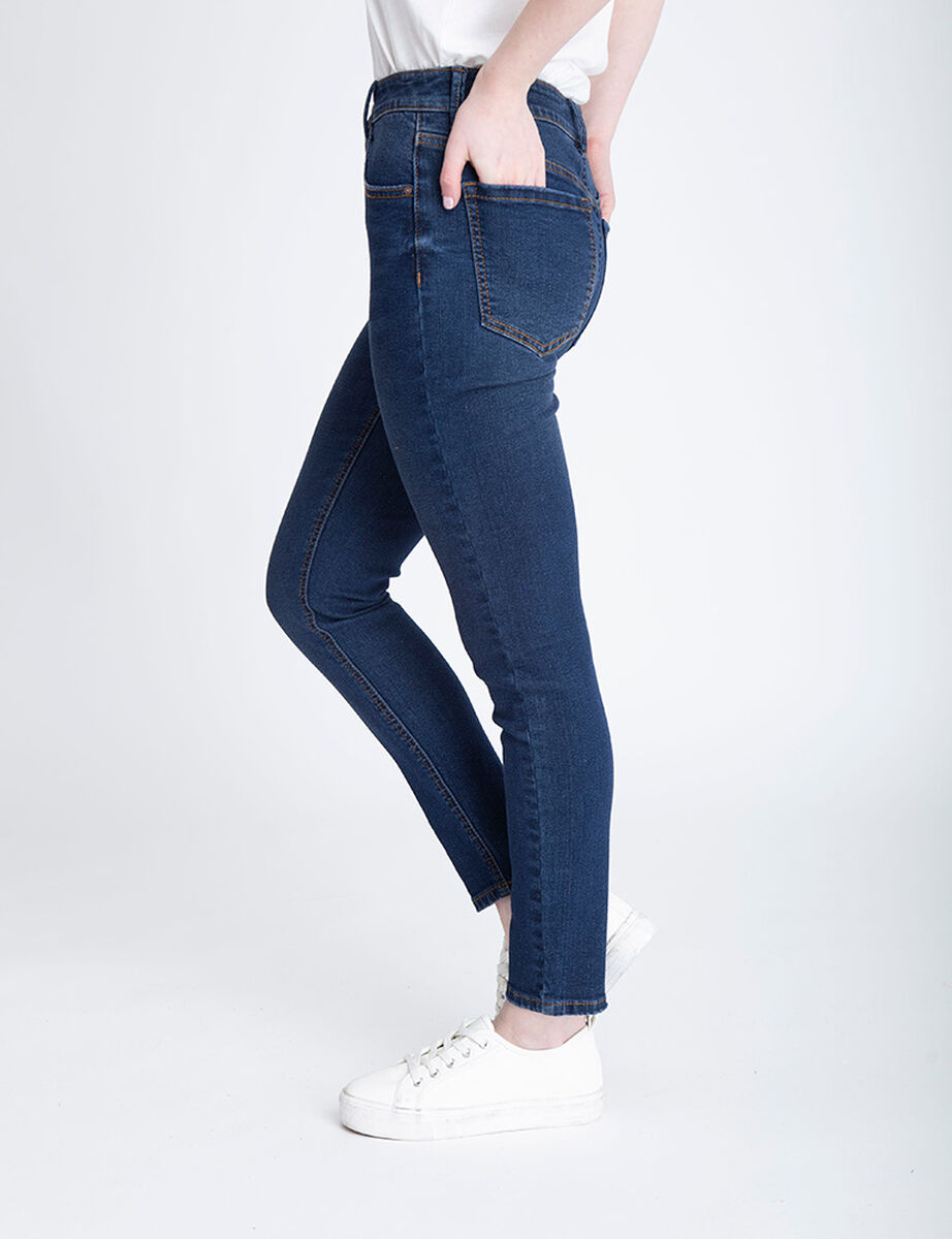 Jeans Indigo Mujer Icono Botones