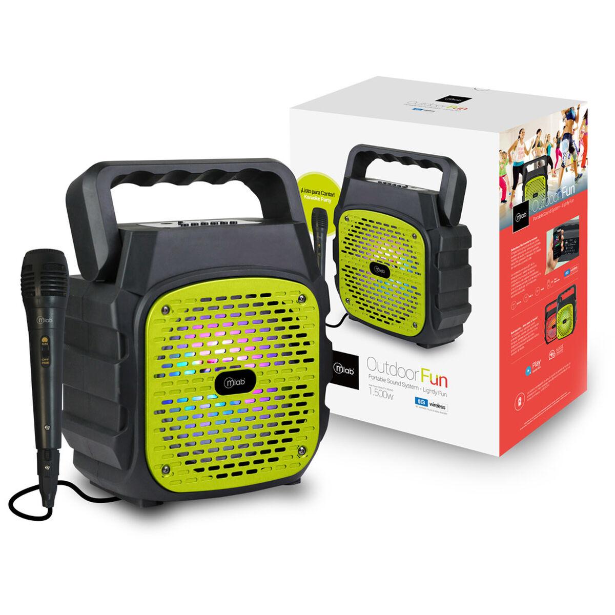 Parlante Bluetooth Karaoke Portátil MLab Outdoor FUN Verde
